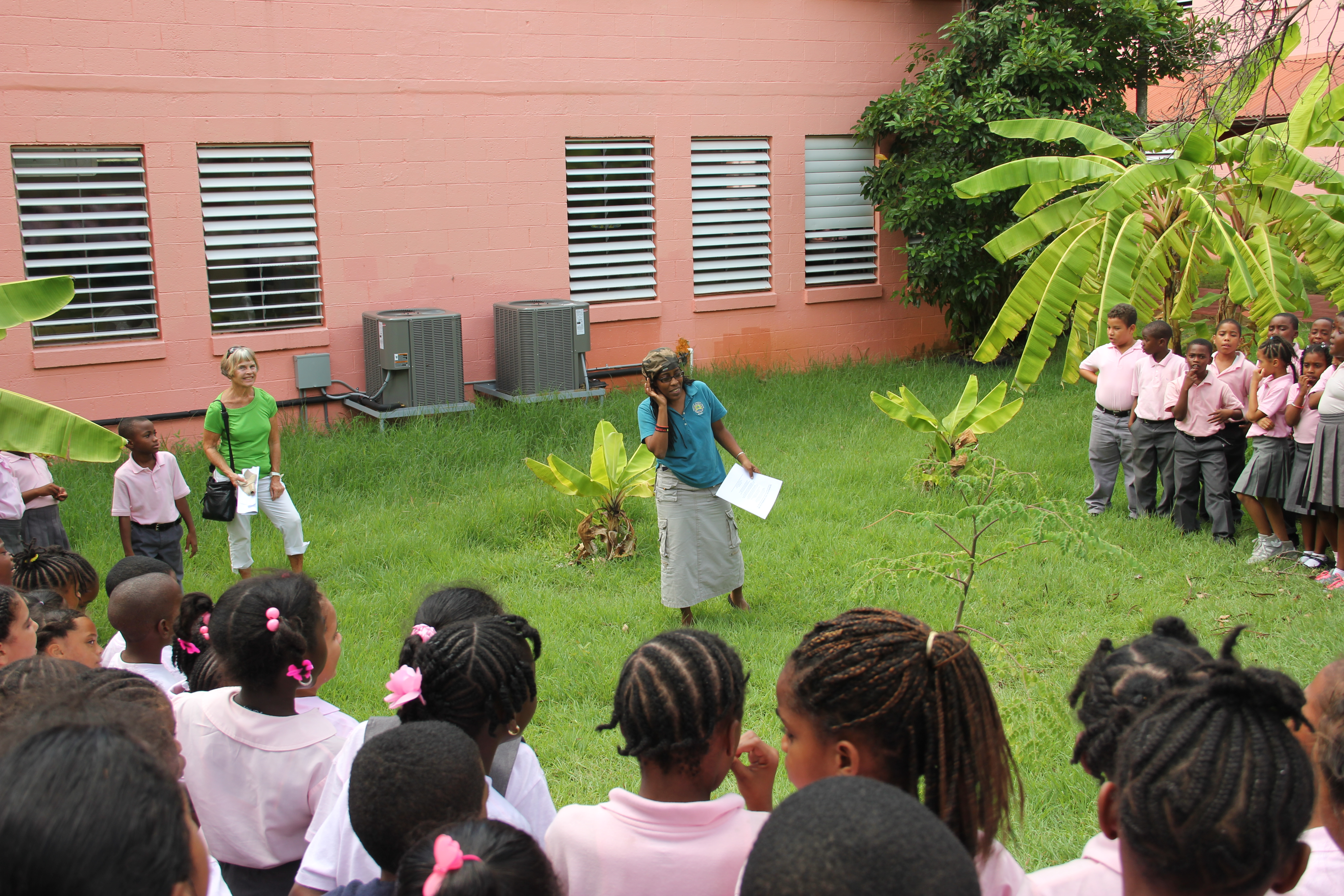 Sharing my Moringa Poem with the students at my old Elementary School